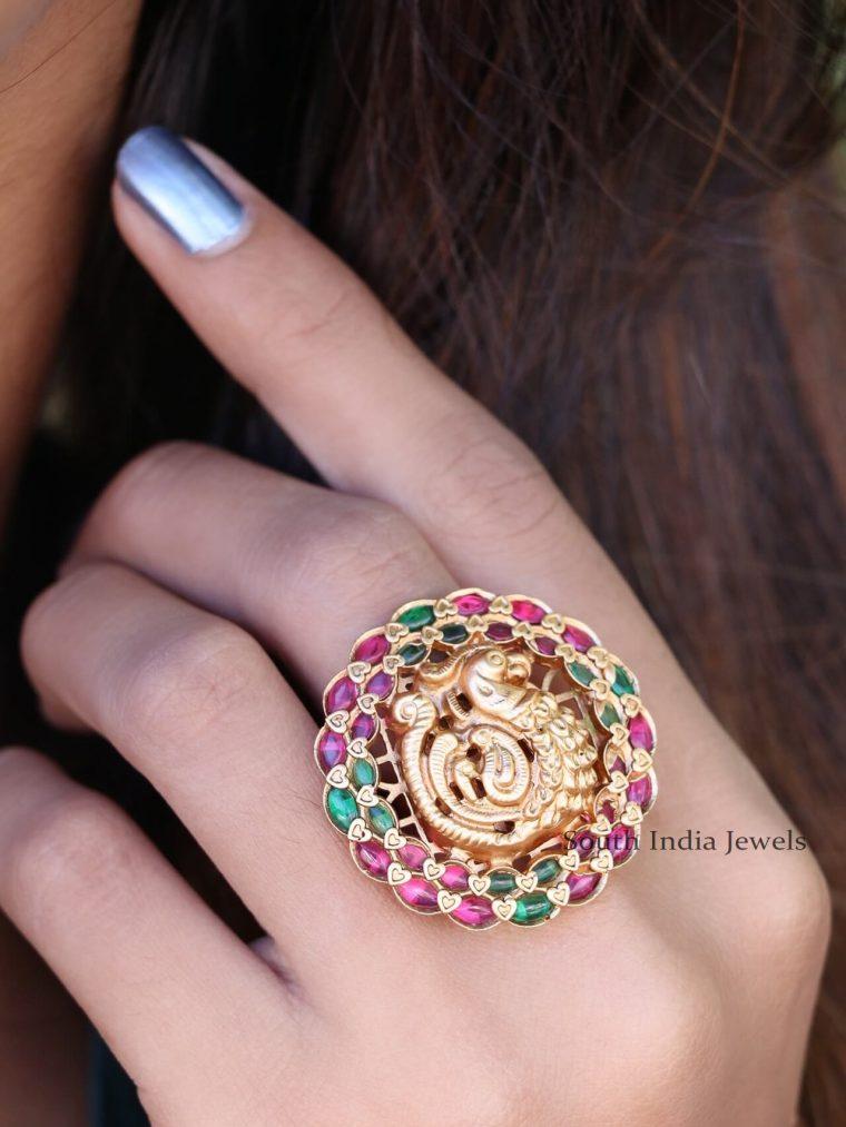 Beautiful Peacock Finger Rings (2)