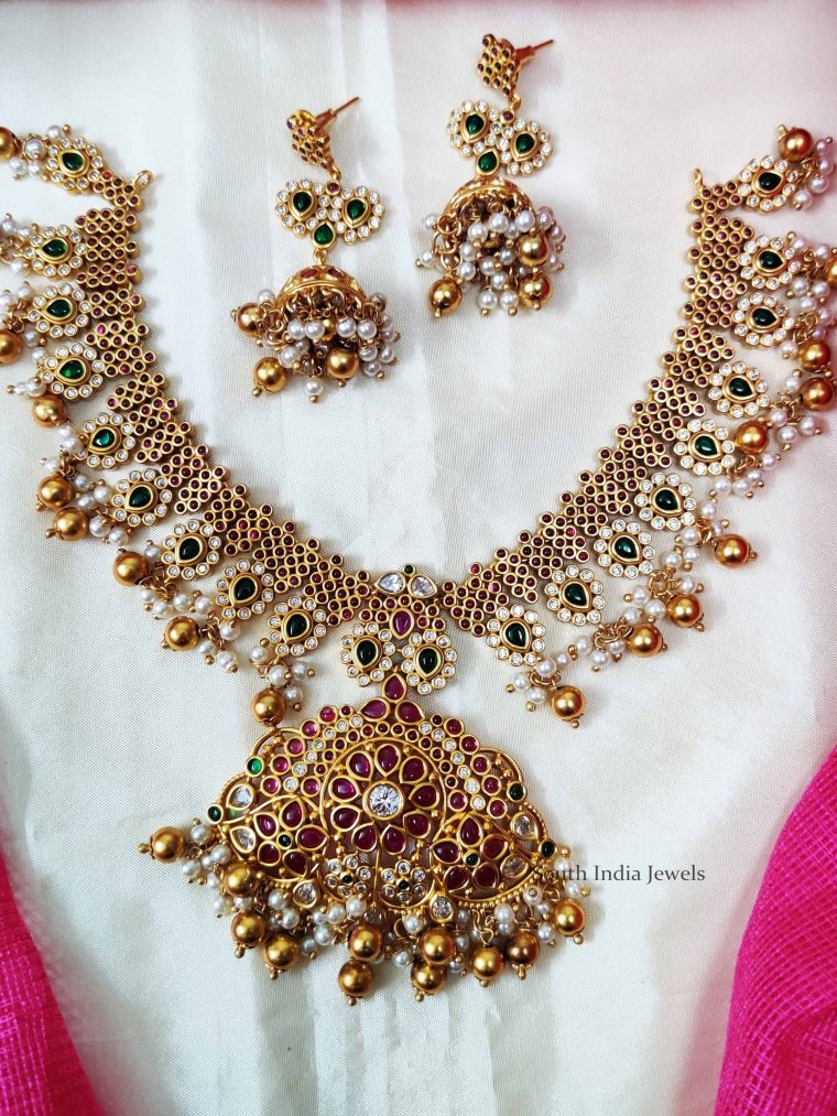 Beautiful Pearls & Beads Necklace