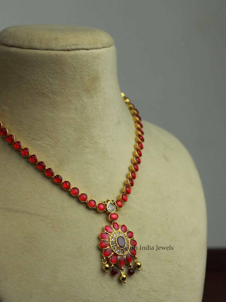 Beautiful Pink Attigai Necklace
