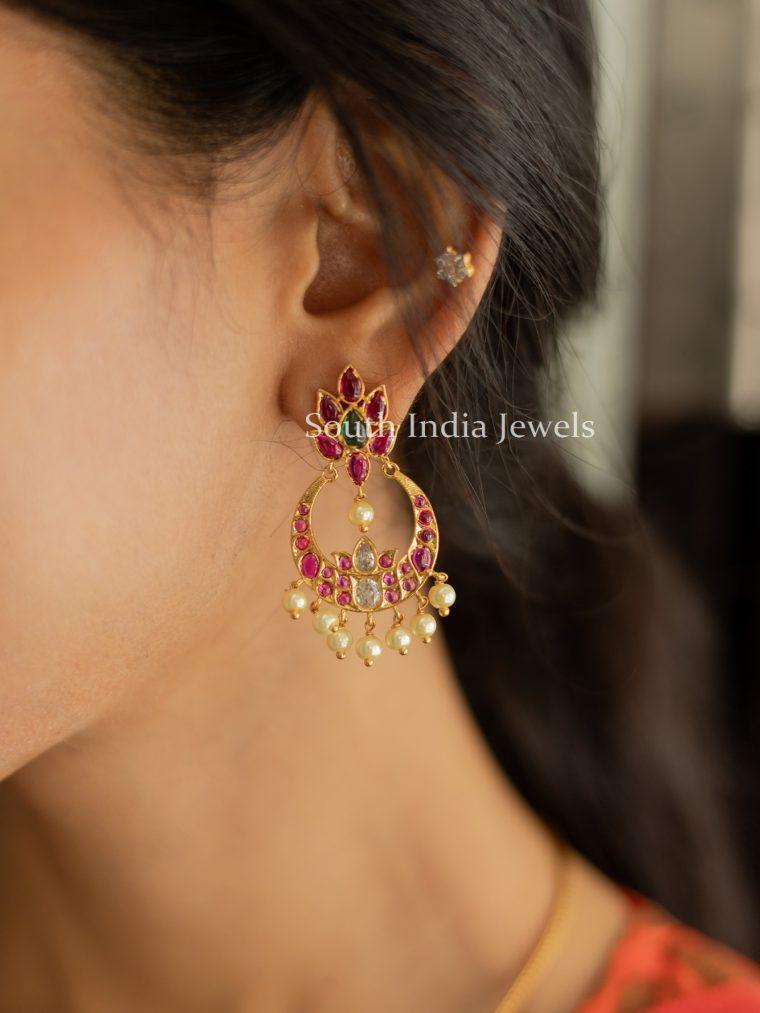 Beautiful Ruby Kundan Earrings-01
