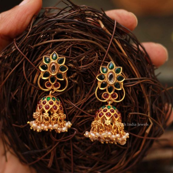Beautiful Silver Gold Plated Earrings