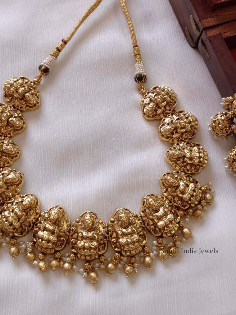 Classic Lakshmi Temple Choker Necklace Set