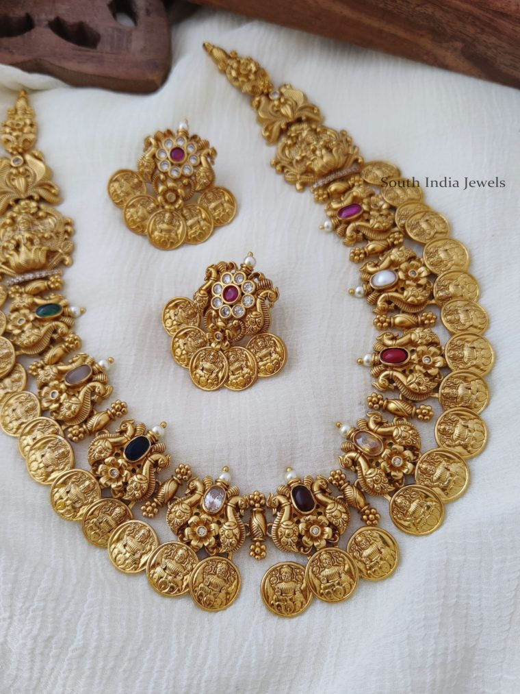 Classic-Navarathna-Lakshmi-Coin-Necklace-