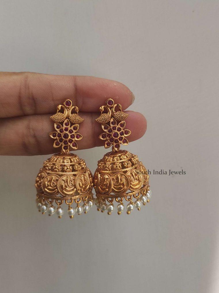 Classic Ruby Ganesh Jhumkas (2)