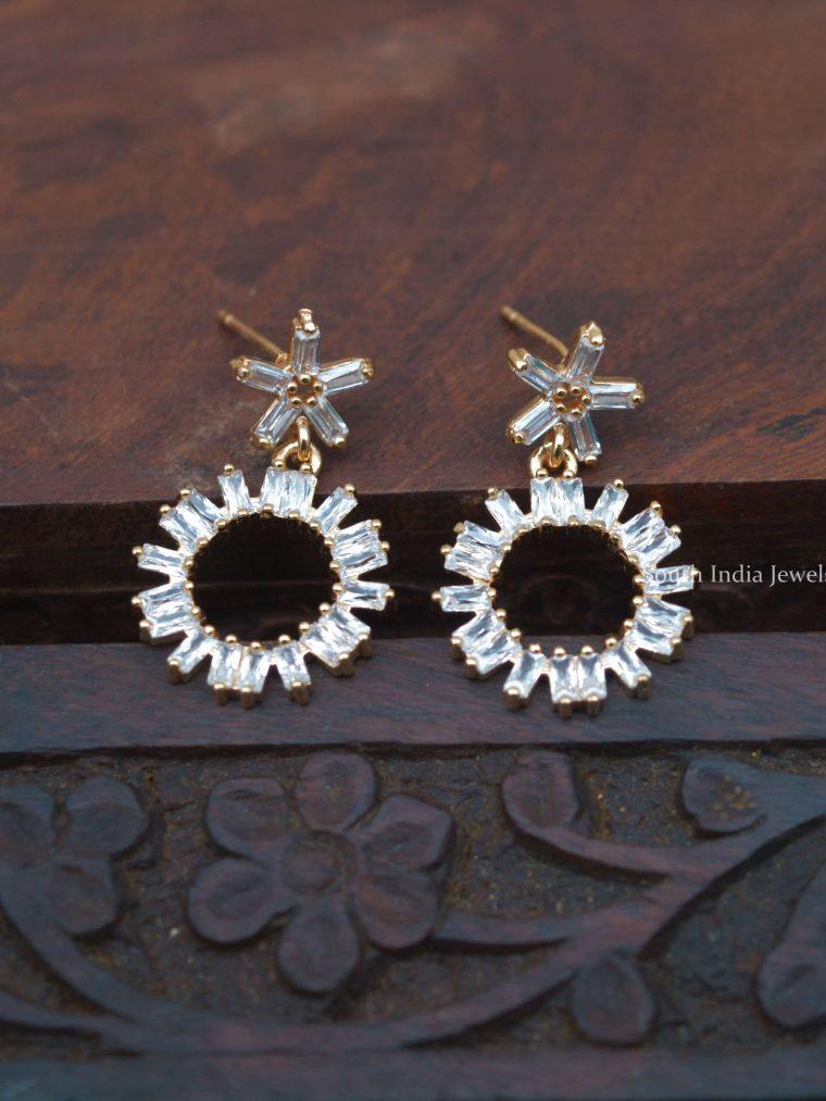 Cute Floral Rose Gold Kids Earrings