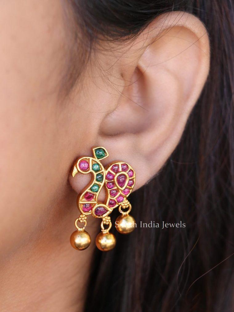 Elegant Designer Peacock Earrings