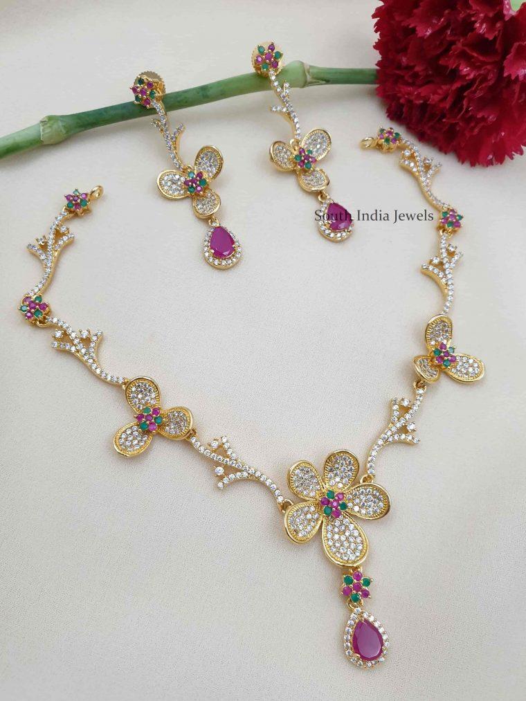 Elegant Floral Design Necklace