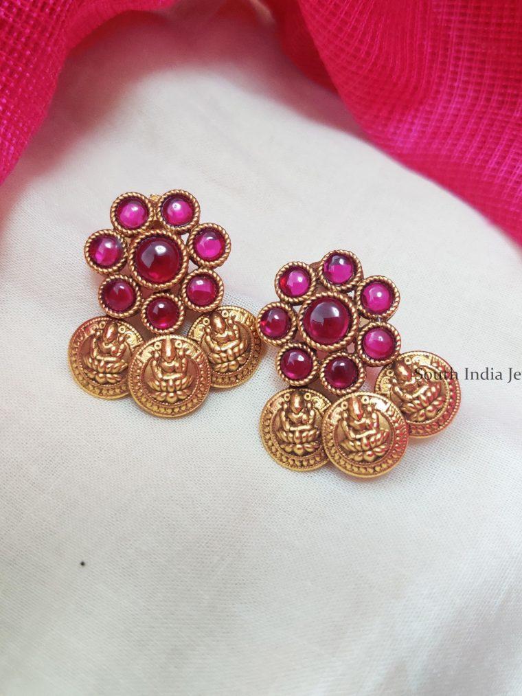Elegant-Lakshmi-Coin-Earrings