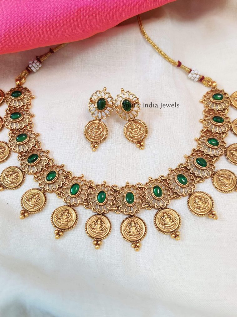 Elegant-Lakshmi-Coin-Necklace