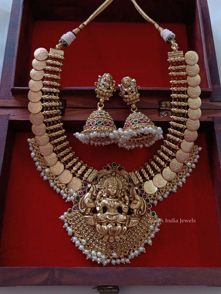 Elegant Lakshmi Necklace Set