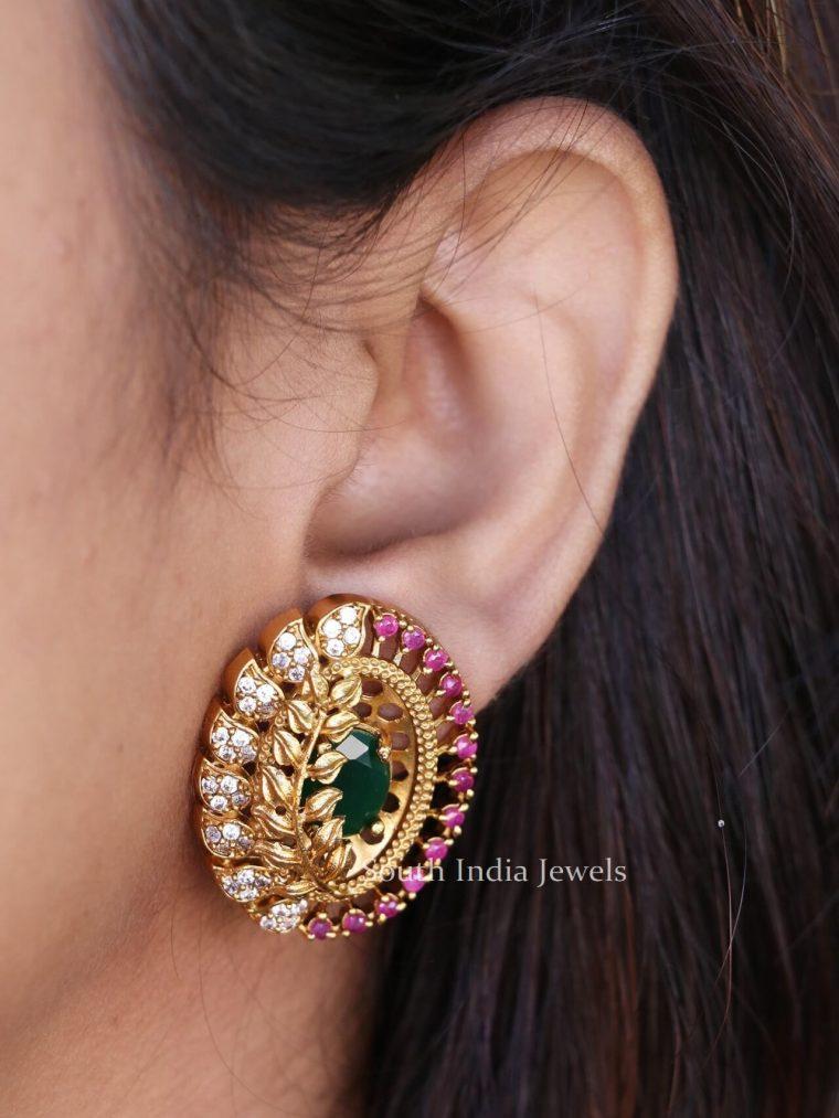 Elegant-Leaf-Design-Earring