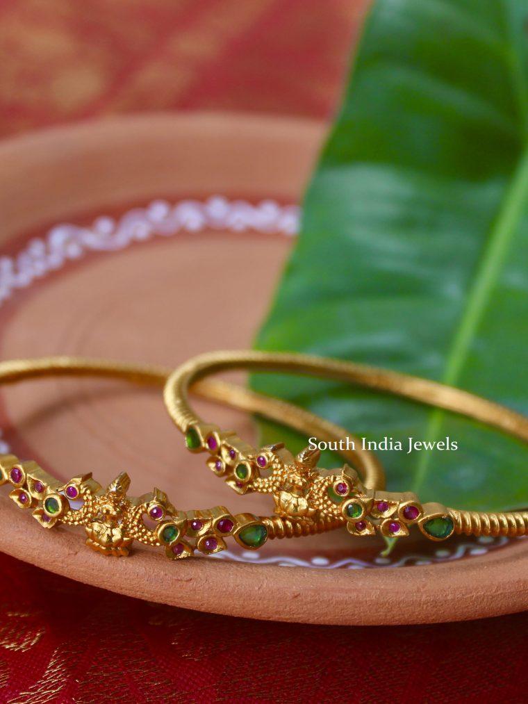 Elegant Peacock & Lakshmi Design Bangles