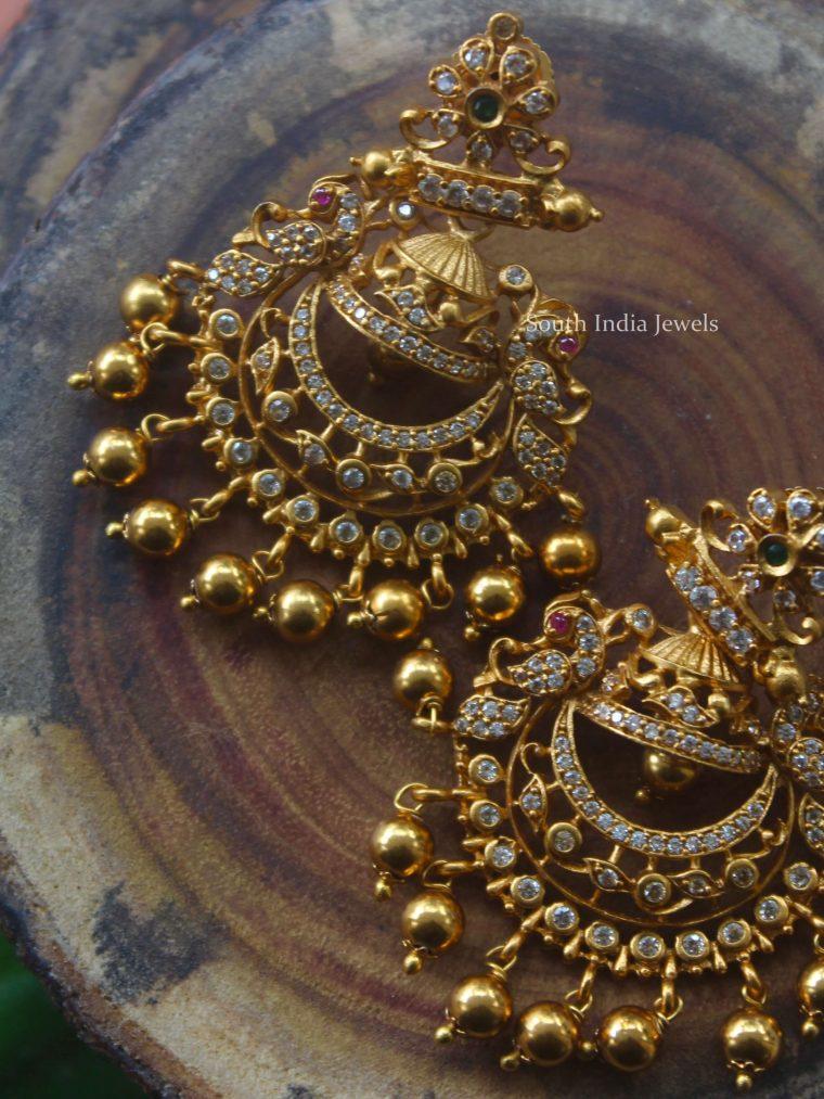 Epic Chandbali Golden Earrings