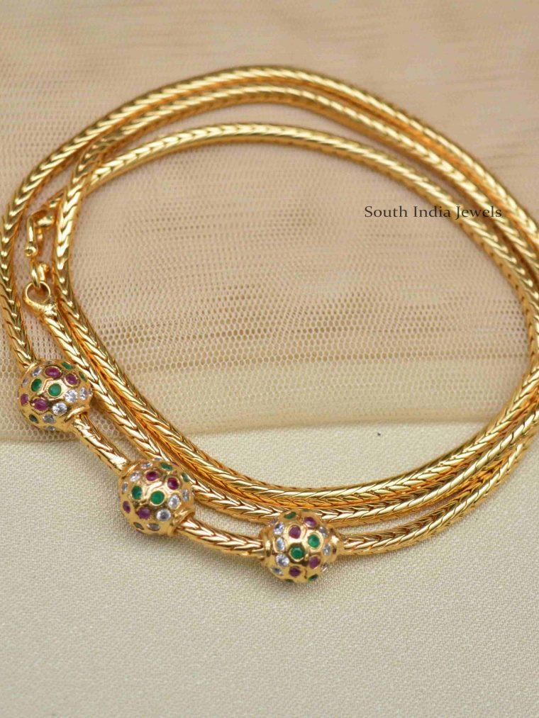 Gatti Ball Design Mugappu Chain