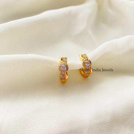 Gold Finish Mini Hoop Earrings