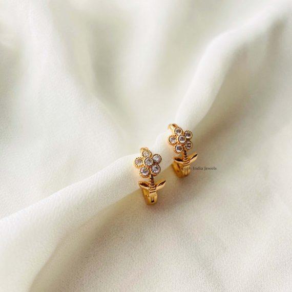 Gold Finish Mini Hoops Earrings