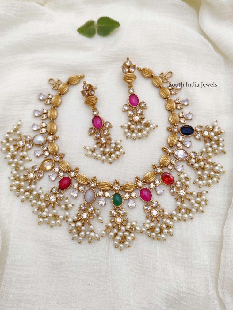Gorgeous Navarathna Guttapusalu Necklace