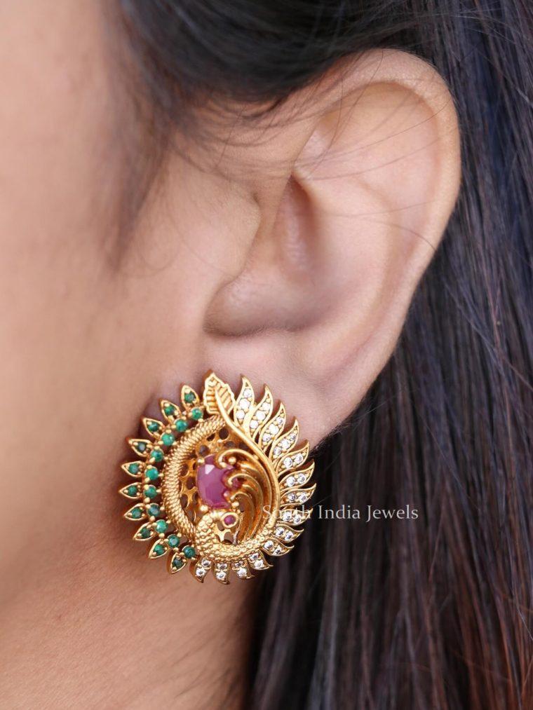 Gorgeous-Peacock-Design-Earrings