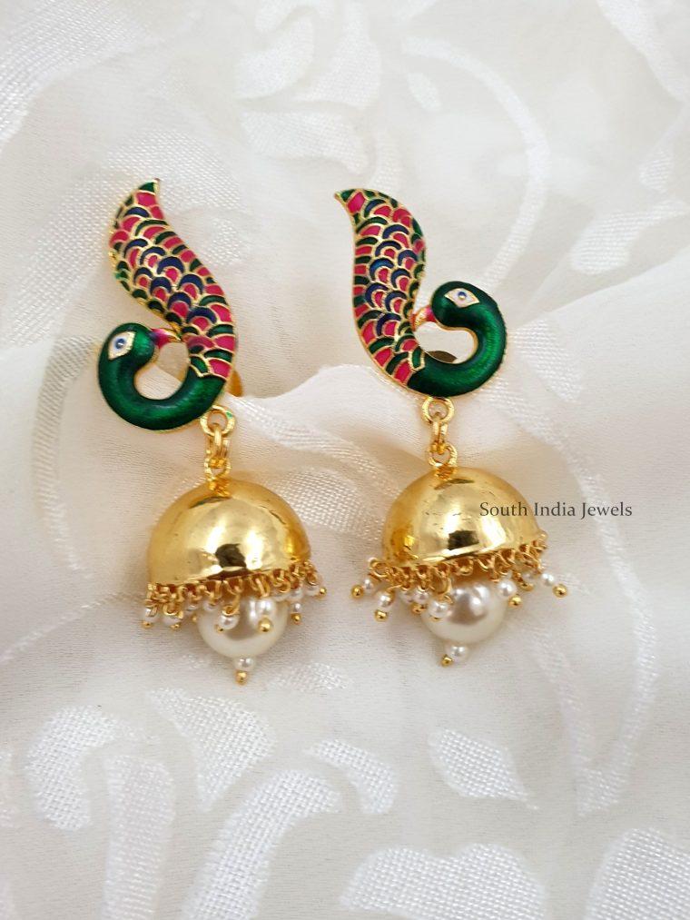 Gorgeous-Peacock-Jhumkas