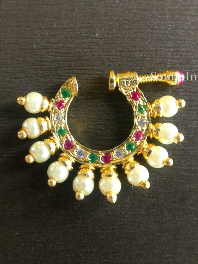 Gorgeous Stone Studded Nose Ring