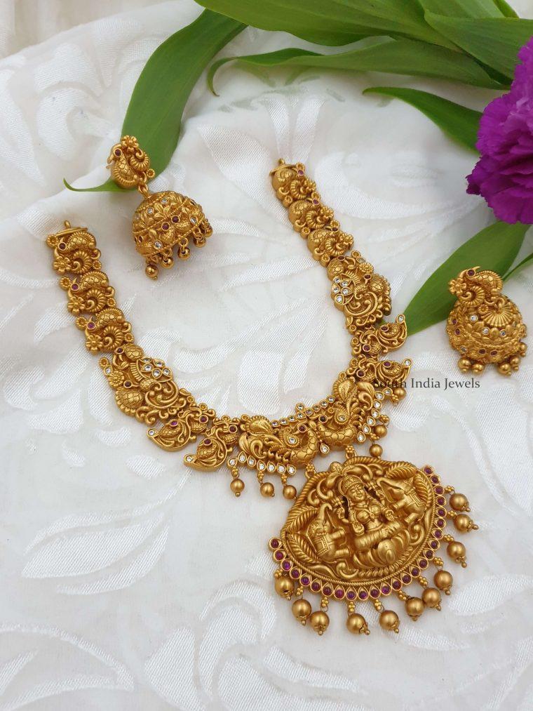 Grand Nakshi Lakshmi design Necklace
