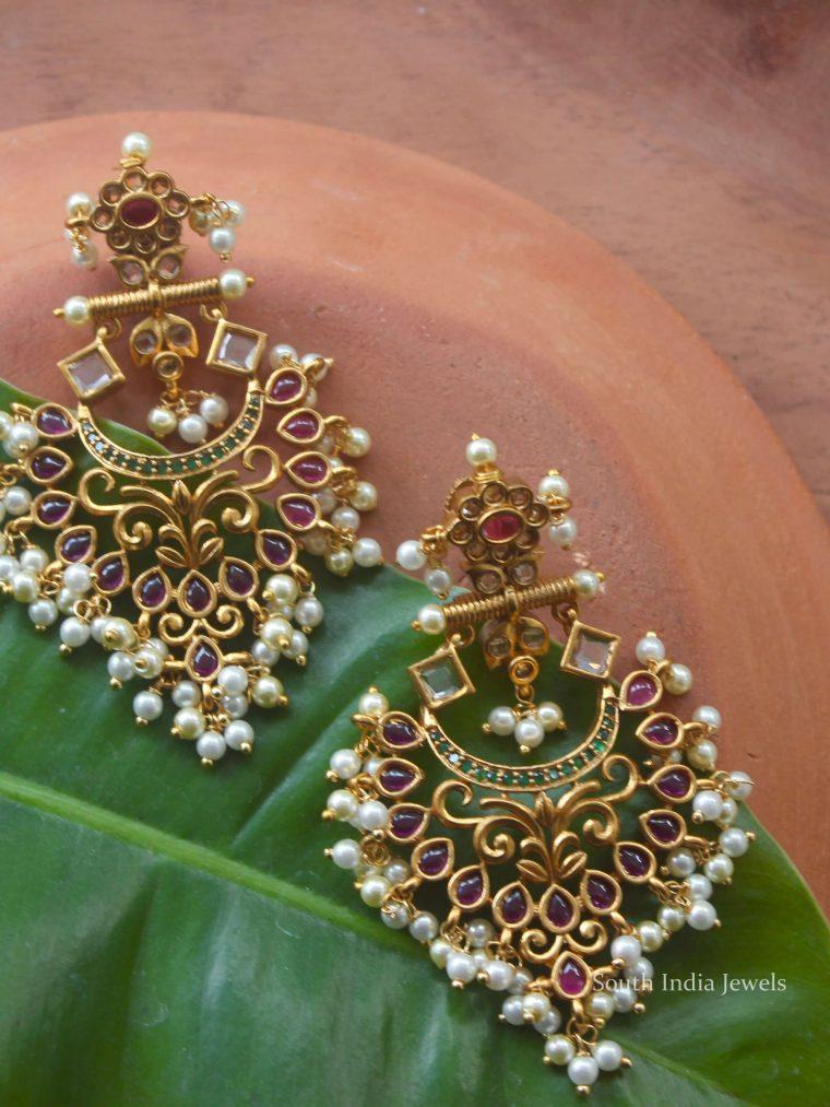 Guttapusalu Chandbali Earrings (2)