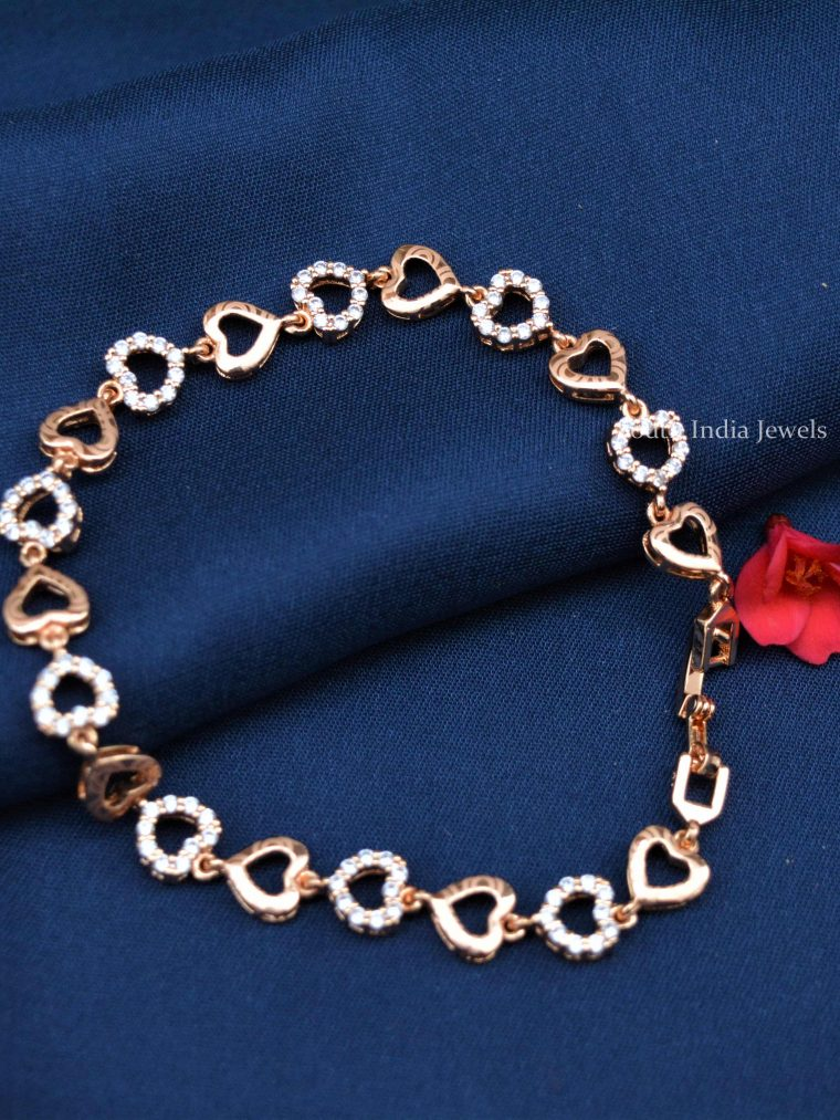 Heart Design Rose Gold Bracelet