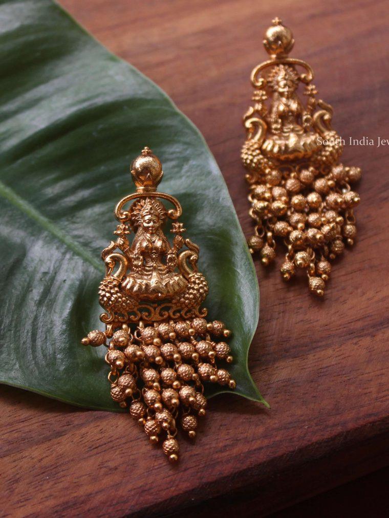 Lakshmi Golden Beads Earrings