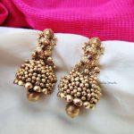 Lakshmi Golden Beads Jhumkas (2)
