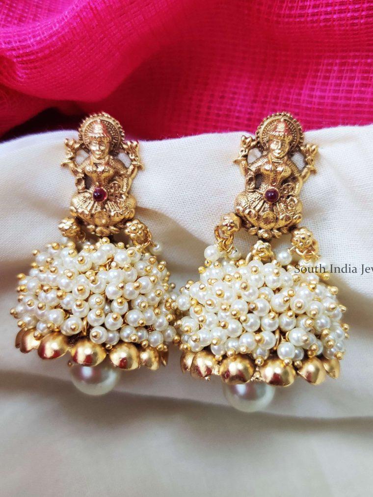Lakshmi Pearl Beads Jhumkas (2)