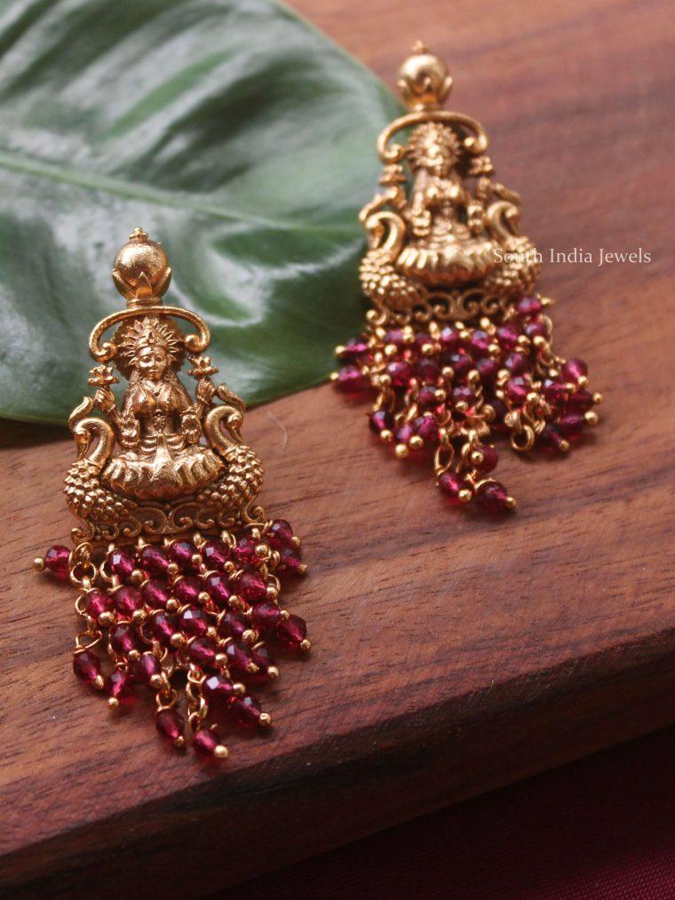 Lakshmi Ruby Beads Earrings