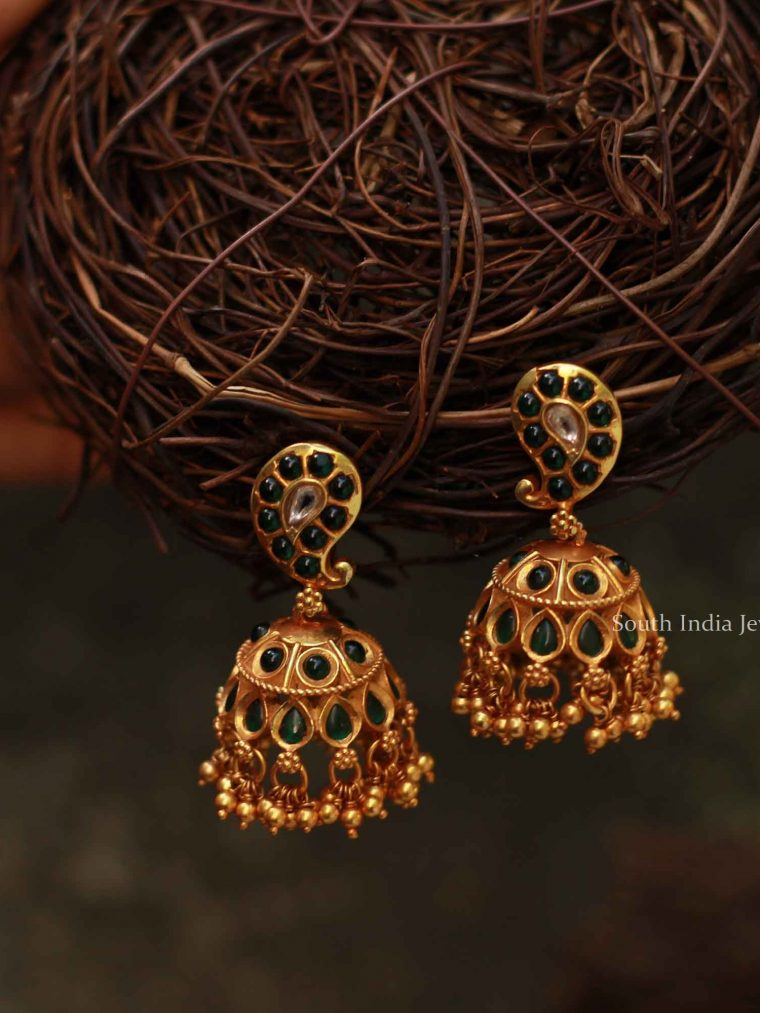 Mango Design Silver Gold Plated Earrings