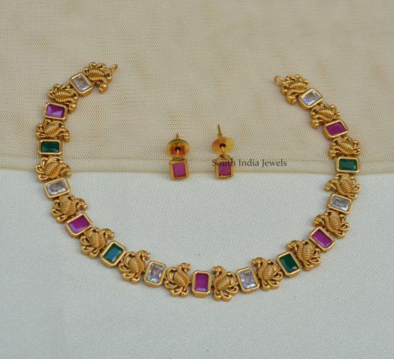 Multi-Color-Swan-Design-Necklace