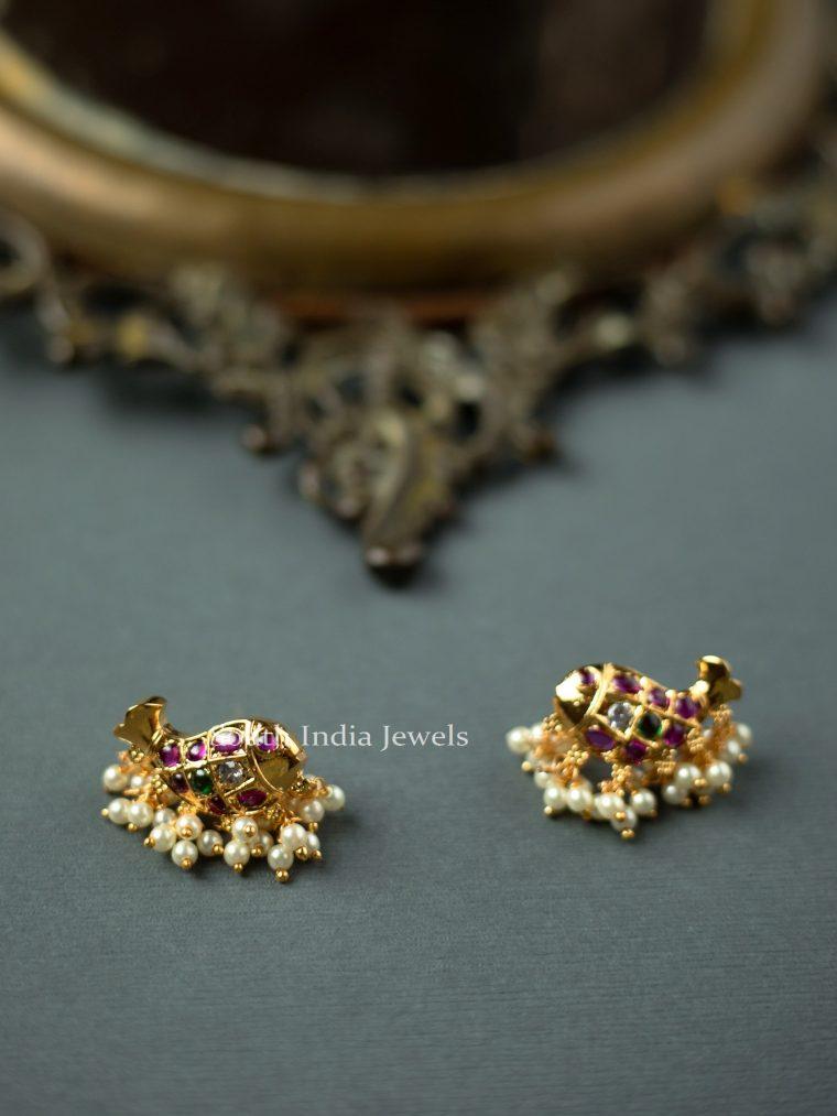Pretty-Fish-Kundan-Earrings