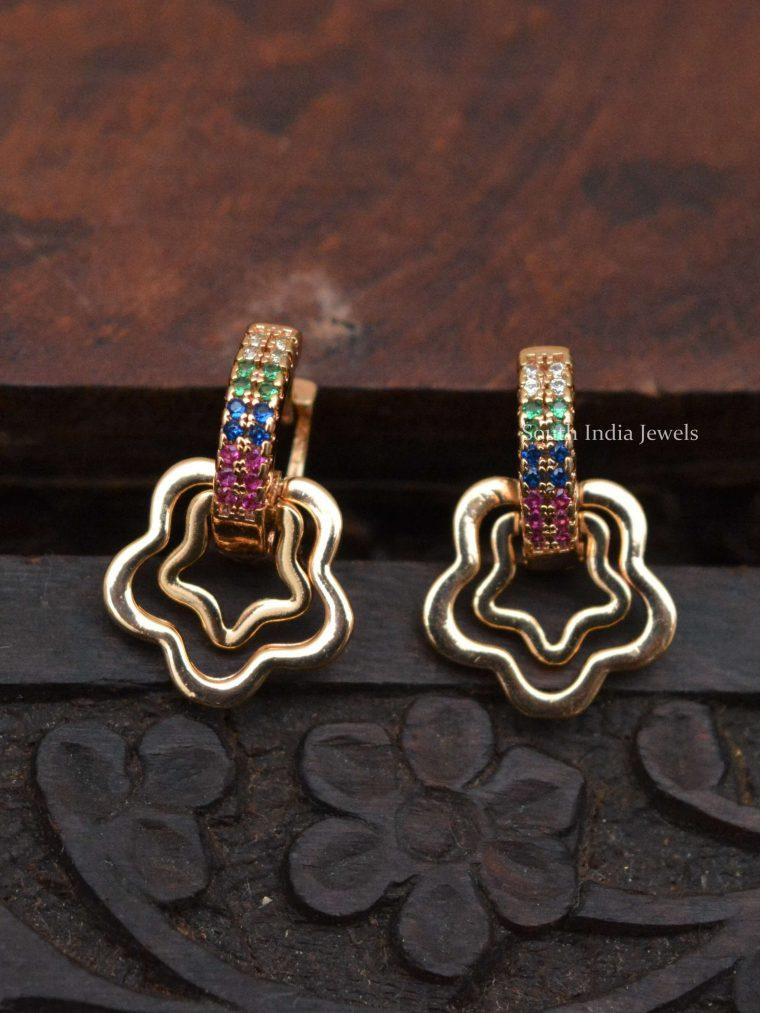Pretty Star Design Kids Bali Earrings