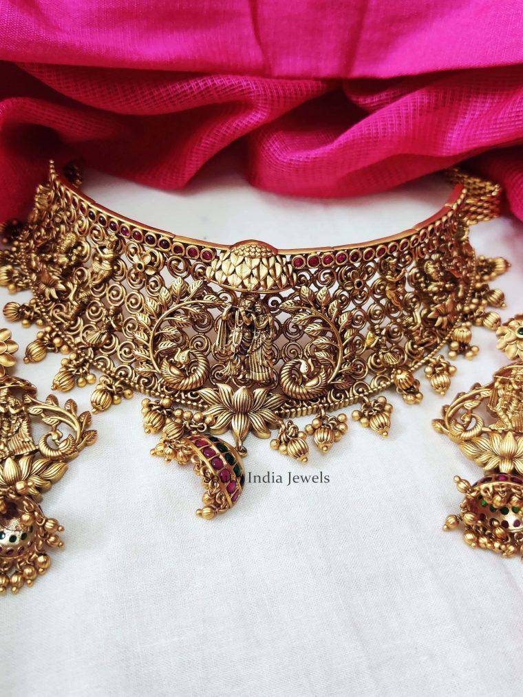 Radha-Krishna-Antique-Choker