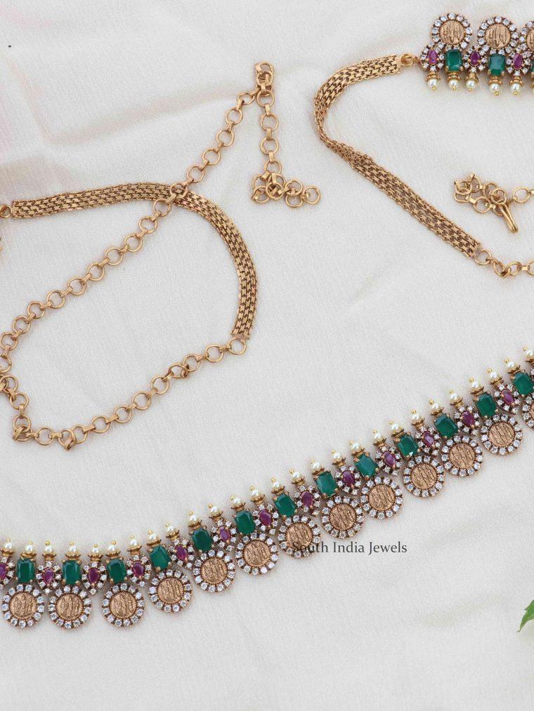 Ruby & Green Stone Hip Chain (2)