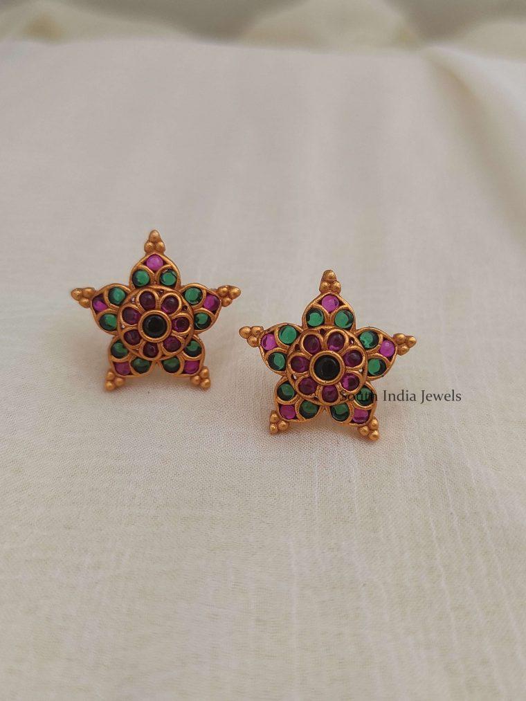 Star Design Kemp Stud Earrings