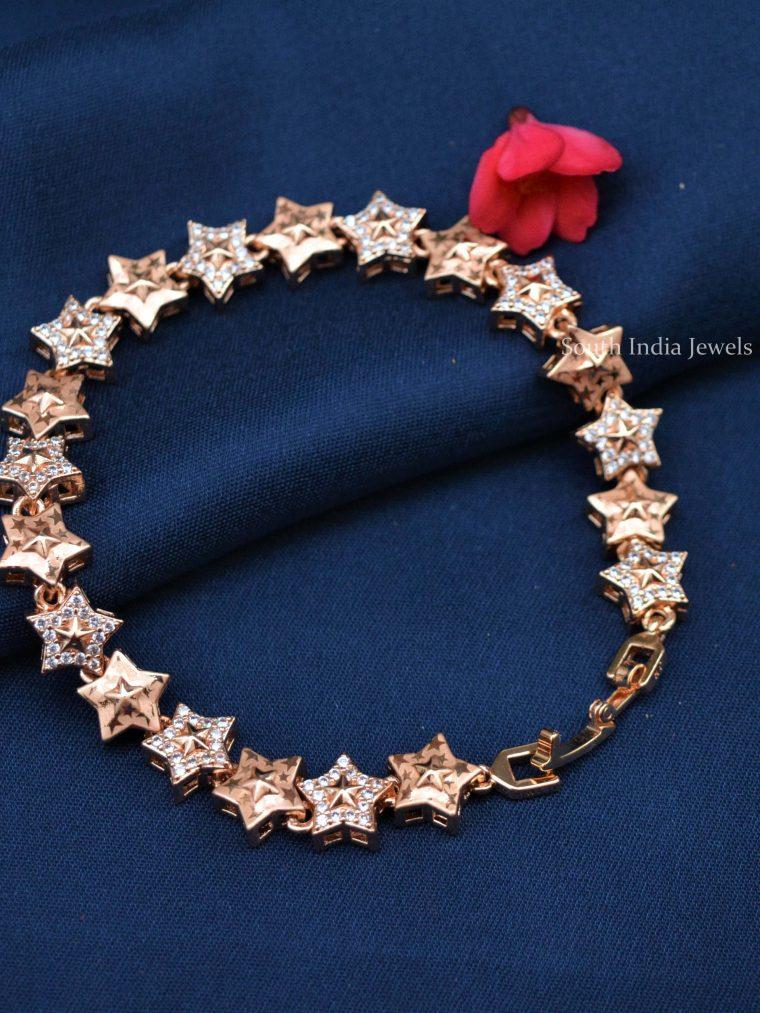 Star Design Rose Gold Bracelet