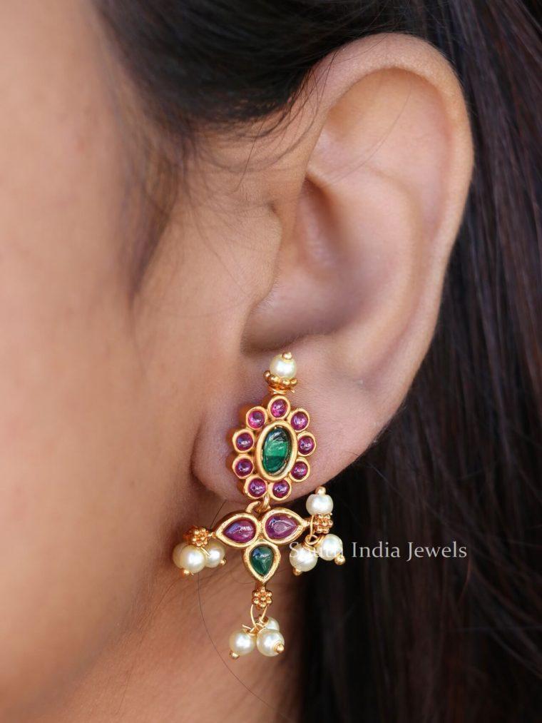Stunning Floral Design Earrings
