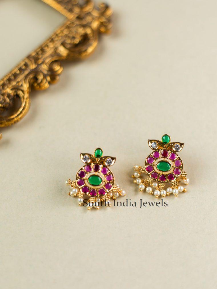 Stunning Floral Kundan Earrings