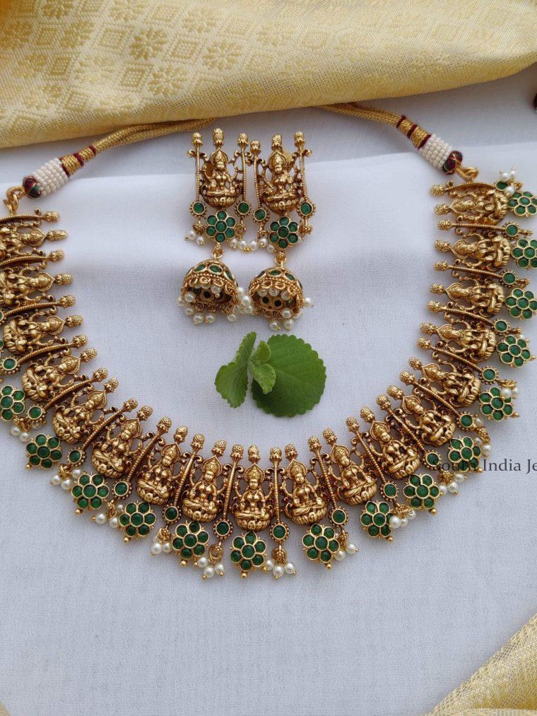 Stunning-Floral-Lakshmi-Deisgn-Necklace