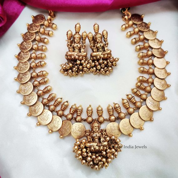 Temple & Coin Design Necklace (2)