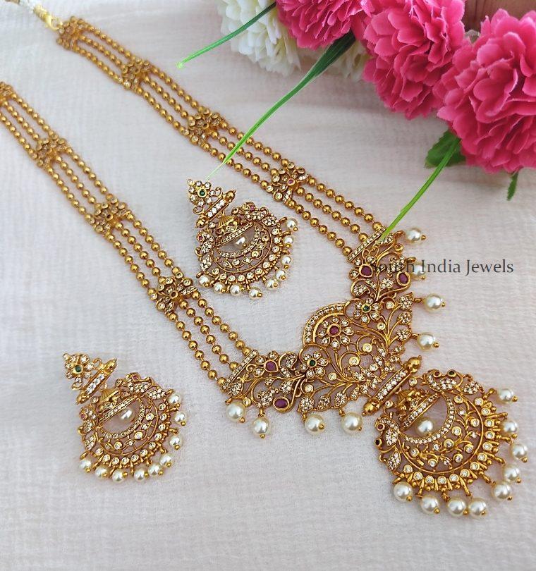 Three Layer Golden Beads Long Haram