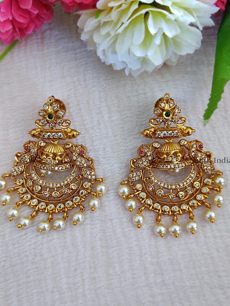 Traditional Chandbali Design Earrings