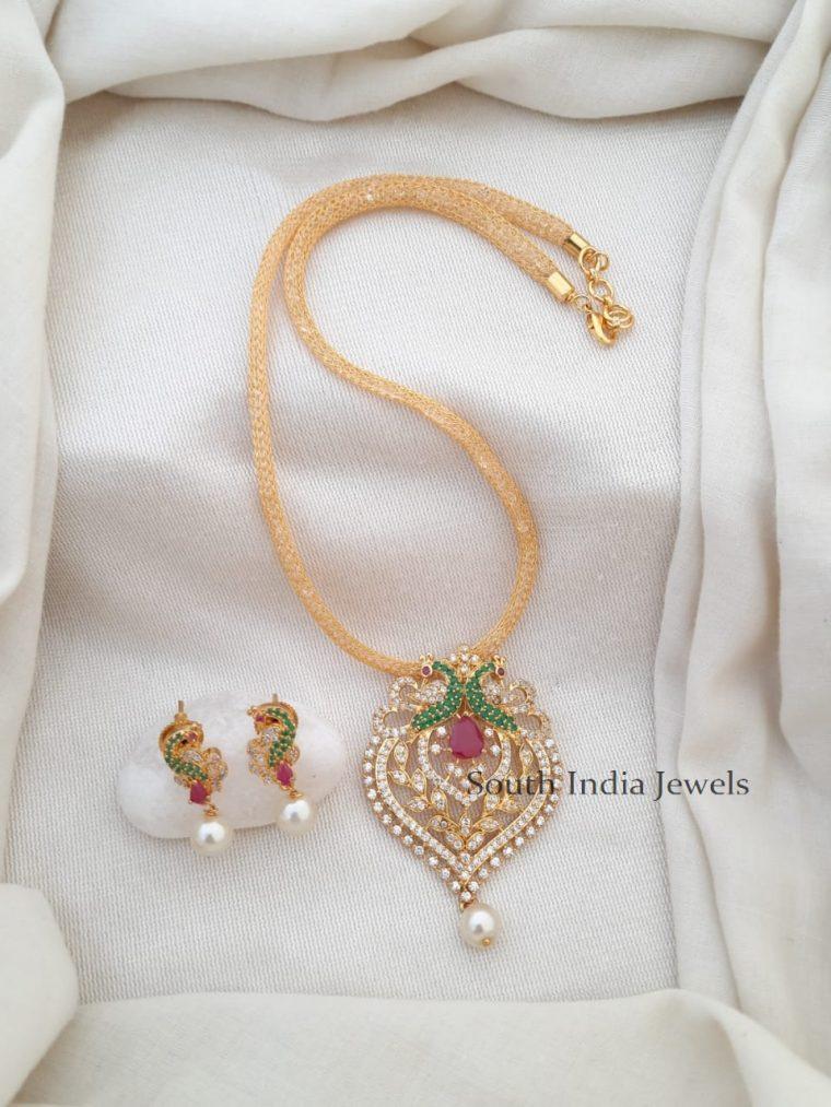 Imitation Jewelry Website | Peacock Pendant Set | Imitation