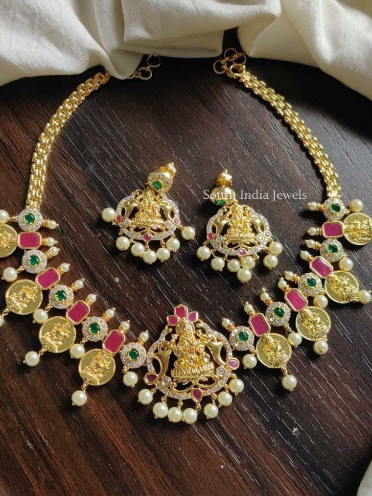 Traditional Lakshmi Design Choker Set