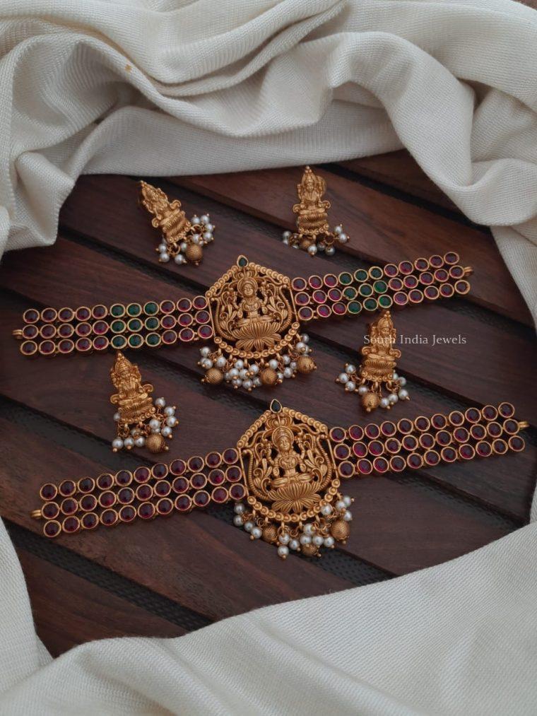 Traditional Lakshmi Kemp Stone Choker