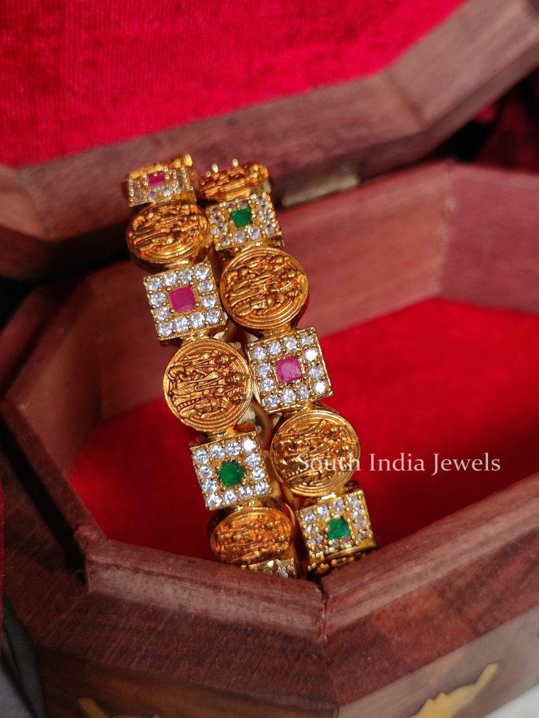 Traditional Ram Parivar AD Stone Bangles