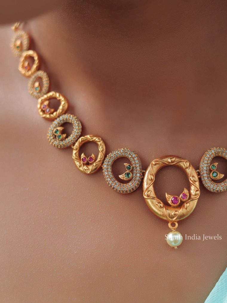 Trendy Assymetric Circles Necklace